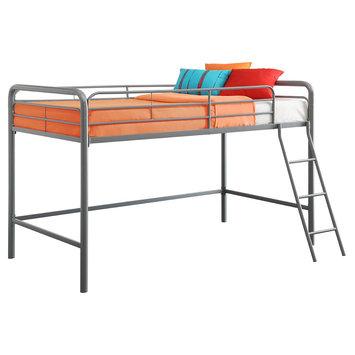 Ameriwood Ind Junior Loft Bunk Bed in Silver Metal