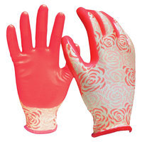 Digz Women's Stretch Knit Gloves with Nitrile Coating - Large, Pink
