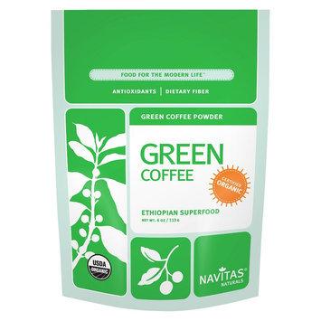 Navitas Naturals GREEN COFFEE POWDER, OG2, (Pack of 12)
