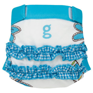 Gdiapers Twirly Blue Girly gPants