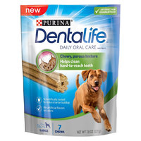 Purina DentaLife Daily Oral Care Large Dog Treats - 7 Ct Pouch