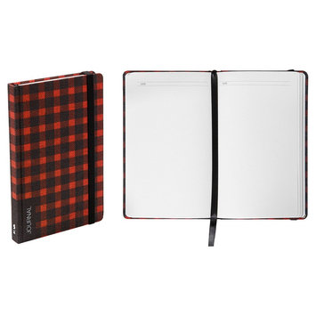 Blank Journal Nava Multi-colored Red, Buffalo Plaid
