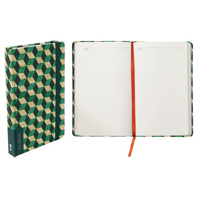 Blank Journal Nava Purple Sta Grass Green Multi-colored Red, Green Cubes