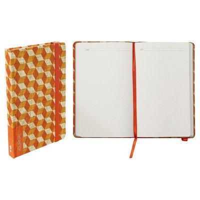 Blank Journal Nava Grass Green Multi-colored Red, Orange Cubes