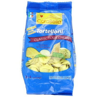 Corabella Four Cheese Tortelloni Pasta, Classic, 8 Ounce (Pack of 12)