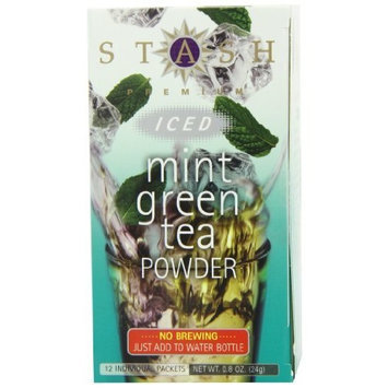 Stash Tea Company Stash Tea Mint Green Iced Tea Powder, 12 Count Packets (Pack of 6)