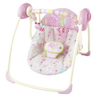 Bright Starts Flutter Dot Portable Swing - Pretty in Pink