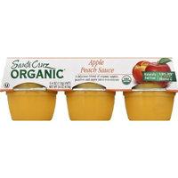 Santa Cruz Organic Apple Peach Sauce 23oz (Pack of 8)