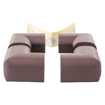 Prince Lionheart Soft Foam Corner Guards Chocolate - 4 Pack