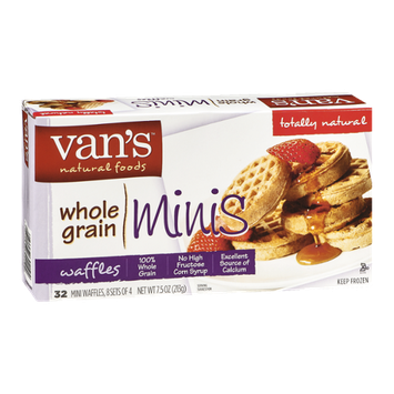 Van's Natural Foods Whole Grain Minis Waffles - 32 CT