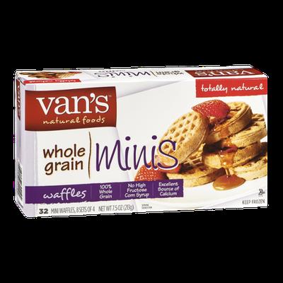 Van's Natural Foods Whole Grain Minis Waffles - 32 CT