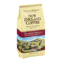 New England Coffee Colombian Supremo Medium Roasted Freshly Ground