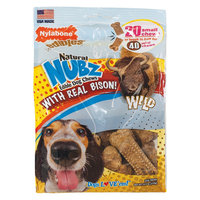 Nylabone Natural Small Nubz with Wild Bison Flavored Chews 20ct