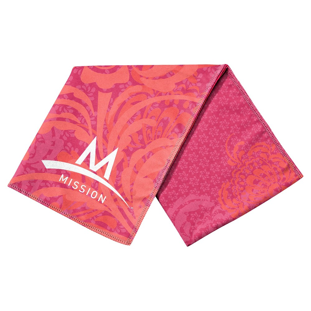 Mission Athletecare Mission EnduraCool Microfiber Instant Cooling Towel - Peony Coral