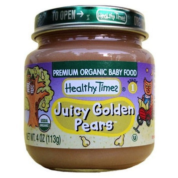 Healthy Times Organic Baby Food, Juicy Golden Pears, 4-Ounce Jars (Pack of 24)