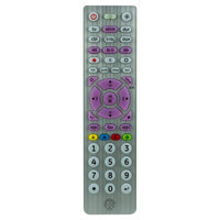 GE Universal Remote 6 Device - Brushed Silver (33714), Medium Silver