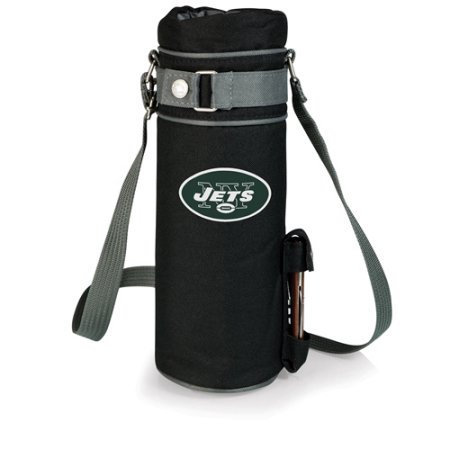 Nfl - New York Jets Picnic Time Insulated Single Bottle Wine Sack - New York Jets