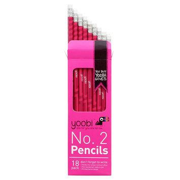 Yoobi Round No. 2 Pencils Pre-sharpened, 18ct - Pink Ziggy