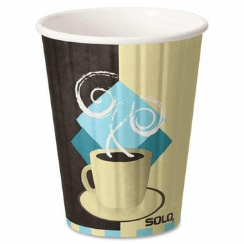 SOLO CUP COMPANY 12J7534 Hot Cup W/Lid Combo Insulated 12 oz. 52/PK Multi