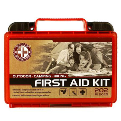 Be Smart Get Prepared Outdoor First Aid Kit, 202 Pieces, 1 kit