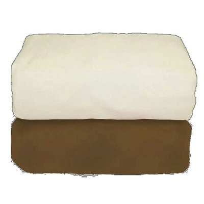 Cocoa Organic Set/2 Flannel Fitted Sheet by Tadpoles