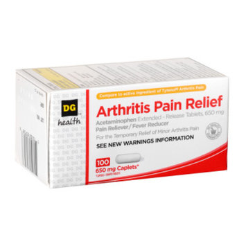 DG Health Arthritis Pain Relief - Caplets, 100 ct