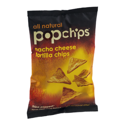 popchips Nacho Cheese Tortilla Chips