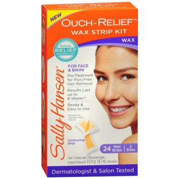 Sally Hansen Ouch-Relief Face Wax Strips, 24 ea