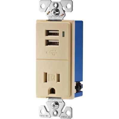 EAGLE ELECTRONICS Eagle Electric TR7740V-K Ivory USB Tamper Resistant Receptacle