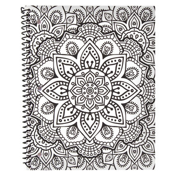 Horizon Bethany Mota Color Your Own Geometric Notebook, White