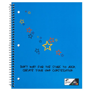 Yoobi x i am Other Spiral Notebook, College Ruled, 1 Subject, 100 Sheets, 8.5