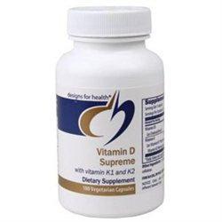 Designs For Health - Vitamin D Supreme 5000 I.U. with Vitamin K - 180 Vegetarian Capsules