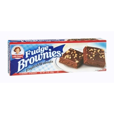 Little Debbie English Walnuts Fudge Brownies - 12 CT