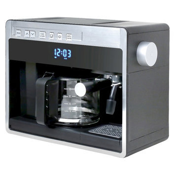 Espressione New 3in1 Combination Coffee Beverage System - Black with Silver, Black/Silver