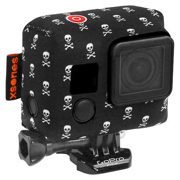 Target Xsories TuxSedo Neoprene Cover Fits for all GoPro - Skully Bones (TXSD3A806), Black