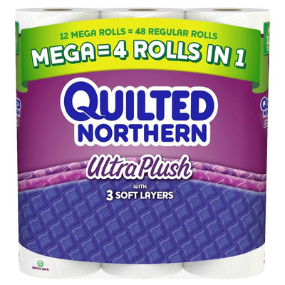 Quilted Northern Ultra Plush Toilet Paper 12 Mega Rolls