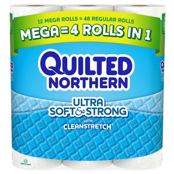 Quilted Northern Ultra Soft & Strong Toilet Paper 12 Mega Rolls