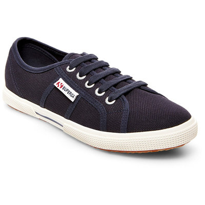 Women's Superga Canvas Low Top Sneakers - Navy 6.5