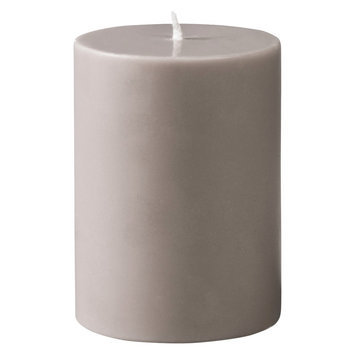 Torre & Tagus Prime Palm Wax Pillar Candle - Warm Grey (3x4