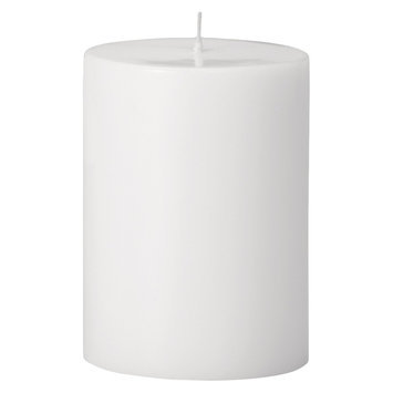 Torre & Tagus Prime Palm Wax Pillar Candle - White (3x4