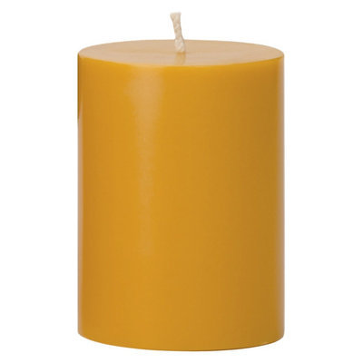 Torre & Tagus Prime Palm Wax Pillar Candle - Yellow (3x4