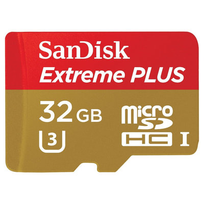 SanDisk 32GB micro SD Ext Plus Spinner - Black (Sdsdqx-032G), Gold