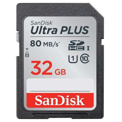 SanDisk 32GB SD Ultra Plus Spinner - Black (Sdsdup-032G)
