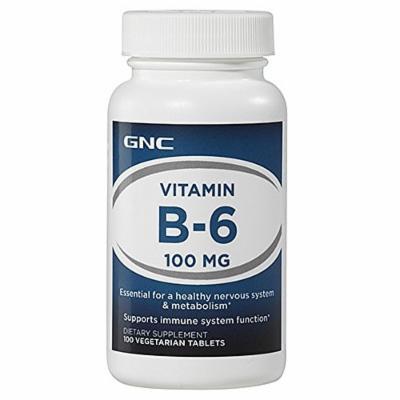 GNC Vitamin B-6 100 mg 100 Vegetarian Tablets