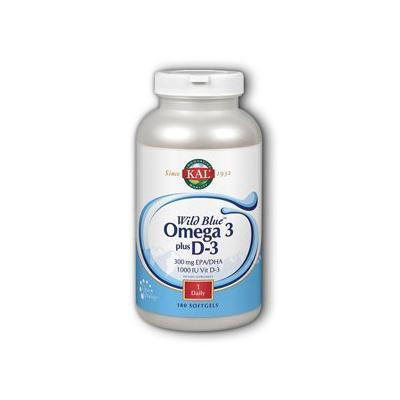 Kal Omega 3 plus D-3 Wild Blue -- 180 Softgels
