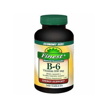 Finest Vitamin B-6 100mg Tablets 300 ea