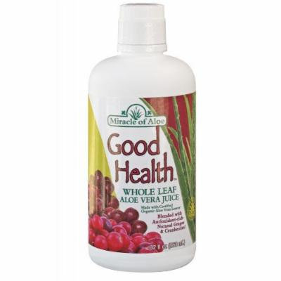 Miracle of Aloe Good Health 1 Quart. The Great Tasting Alternative to Plain Aloe Juice! Enriched Antioxidant Blend that Combines Natural Grape and Cranberry Juices with Aloe Gel for a Delicious Taste! Provides Immune Support and Function, Regulates...