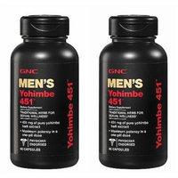 GNC Men's Yohimbe 451, Capsules, 60 ea Single & Multi Packs (Two Bottles each of 60 Capsules)