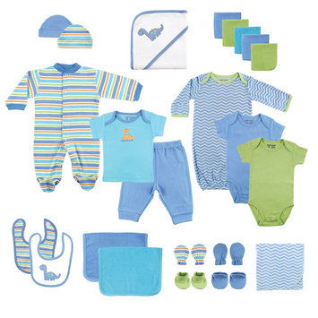 Luvable Friends Baby Boys' 24 Piece Deluxe Gift Set - Blue, Infant Boy's, Size: 0-6 MONTHS
