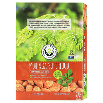 Kuli Kuli Moringa Crunchy Almond Superfood Bar - 12 Count